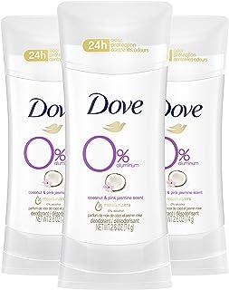 DOVE WOMENS DEO 0٪ دئودورانت آلومینیوم ، نارگیل و یاس صورتی ، 2.6 اونس (بسته 3)