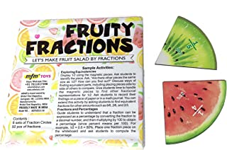 MFM Toys Fruity Fraction (Fractions & Percentage Circles) ~ Magnetic Maths Manipulatives For Classroom/Home Fraction Circl...