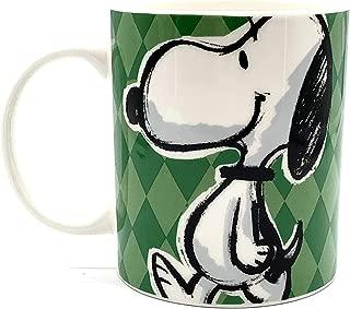 Peanuts Snoopy Original Trademark Colorful Coffee Tea Beverage Mug Cup 15oz (Snoopy Green)
