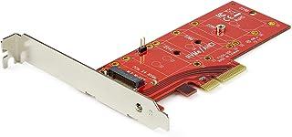 StarTech.com PEX4M2E1 - Adaptador PCI Express x4 a M.2 para SSD - NGFF AHCI o NVMe, Color Rojo