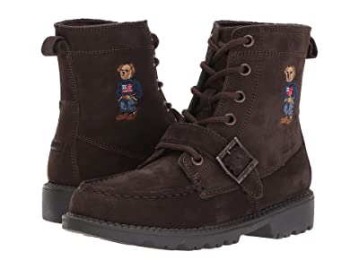 Polo Ralph Lauren Kids Ranger Hi II (Little Kid) (Chocolate Nubuck/Polo Sweater Bear) Boys Shoes