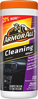 Armor All 17497C 30 Count Cleaning Wipes (25Ct + 20%)