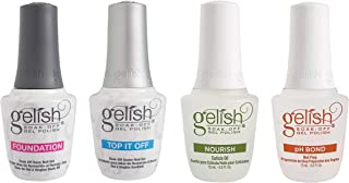 Gelish Fantastic Four Essentials Collection Soak Off Gel Nail Polish Kit, 15 mL