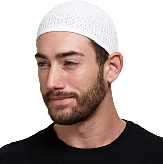 Muslim Bookmark Solid Colored Elastic Skull Cap Kufi Hats