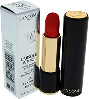 Lancome Labsolu Rouge Hydrating Shaping Lipcolor - # 105 A La Folie/sheer By Lancome for Women - 0.12 Oz Lipstick, 0.12 Ounce