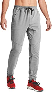 MAGCOMSEN Men's Jogger Pants Closed Bottom Lightweigt Training Running Pants Outdoor Sports Jersey Sweatpants Zipper Pockets