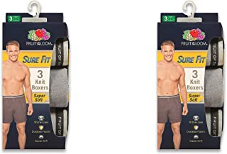 Fruit of the Loom Men's Knit Boxers 6-pack SURE FIT Size 2X (44-46)