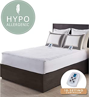Best sunbeam non woven thermofine heated electric mattress pad Reviews