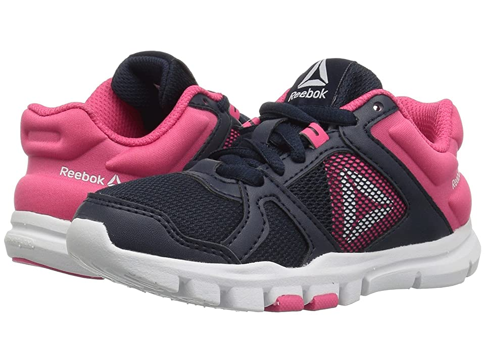 Reebok Kids Yourflex Train 10 (Little Kid/Big Kid) (Navy/Pink) Girls Shoes