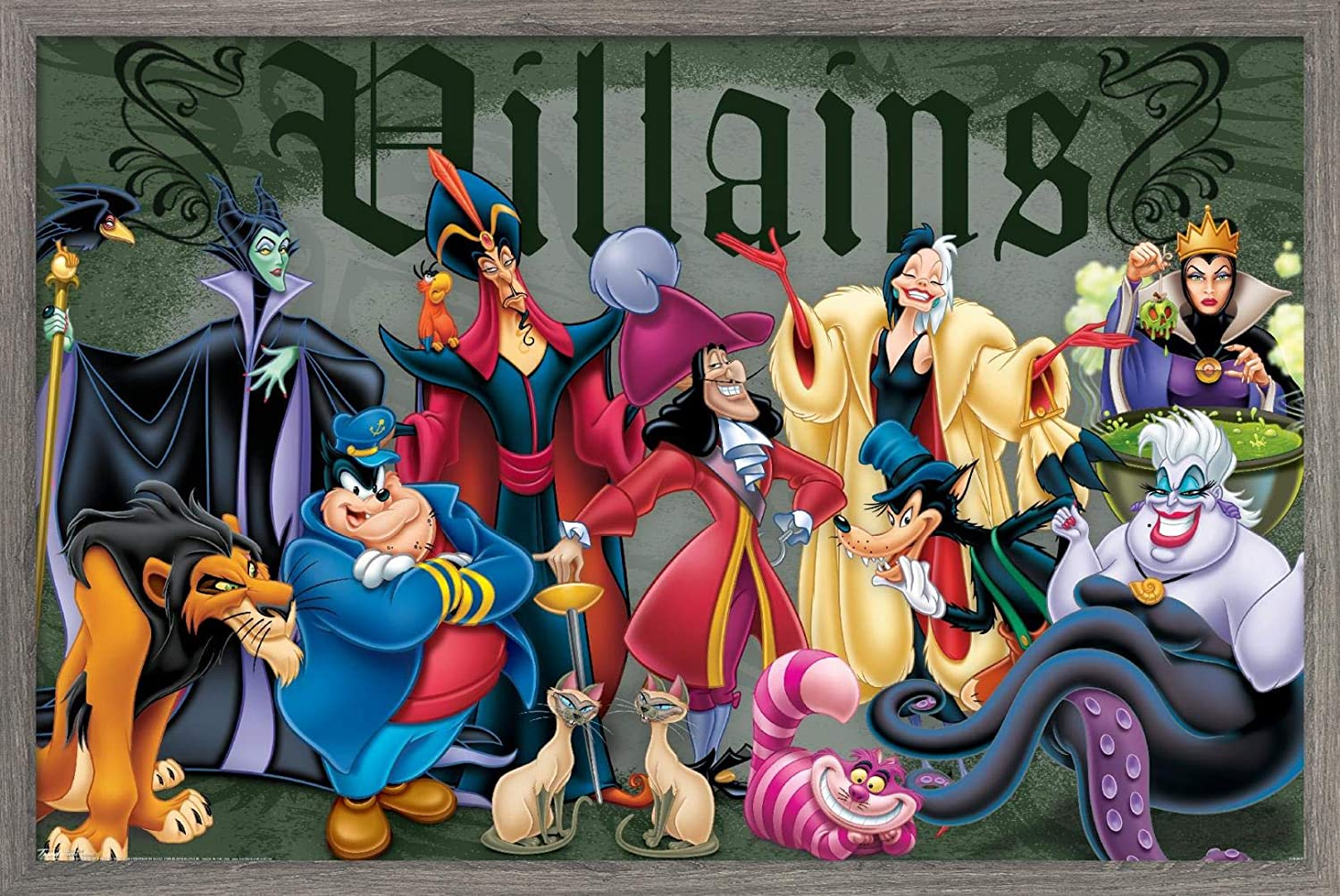 Trends International Disney Villains - Poster Pose Max 64% OFF Super beauty product restock quality top 2 Wall Group