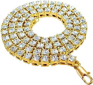 Axios Moda Premium CZ Diamond 5mm Tennis Link Chain