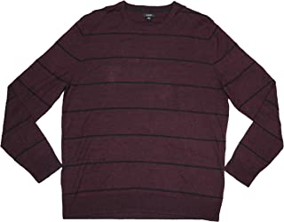 Alfani Men's Crew Neck Striped Pullover Long Sleeve Sweater
