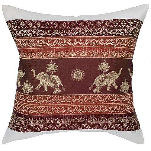 Funda de cojín de Avarada, con estampado de elefantes y soles, para sofá,