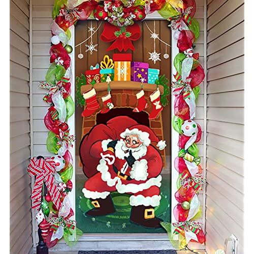 Christmas Door Cover Decorations Amazon Com