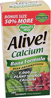 Natures Way Alive! Calcium Bonus Pack, 180 CT