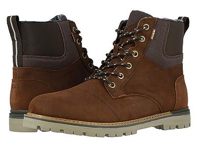 TOMS Ashland Waterproof Boot (Waterproof Brown Waxy Suede/Rugged Canvas) Men