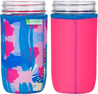 JarJackets Neoprene Mason Jar Protector Sleeve - Fits 24oz (1.5 pint) Jars (1, Hot Pink)