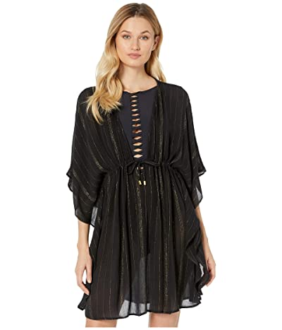 Bleu Rod Beattie Passage To India Caftan Cover-Up (Black/Gold) Women