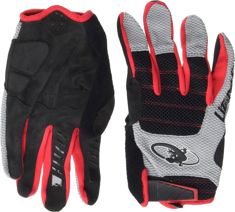 Lizard Skins Monitor AM Gloves: Jet LG Black Outlet sale feature Large-scale sale Crimson