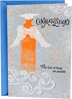 Hallmark Mahogany Religious Graduation Card (With God, All Things Are Possible)