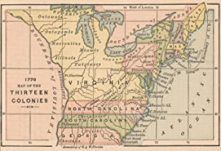 VintPrint Map Poster - 1776 Map of The Thirteen Colonies 9