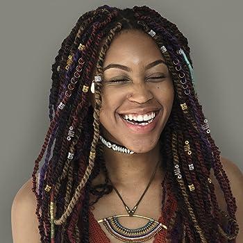 10Pcs Metal Hair Braid Dreadlock Beads Cuffs Clips Braid Spiral Jewelry Decor OJ