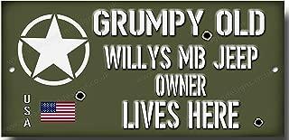 Vintage Sign Designs Ne Jamais Sous-Estimer un Vieux Homme avec Willys MB Jeep
