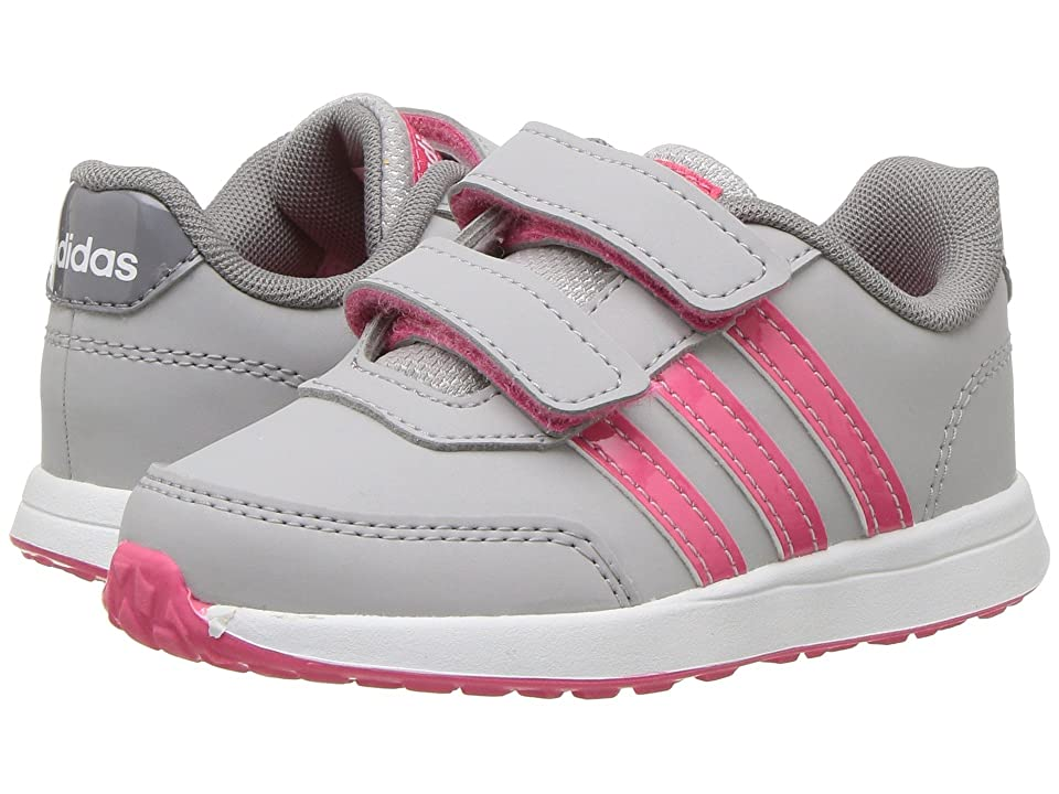 adidas Kids VS Switch 2 CMF (Infant/Toddler) (Grey 2/Real Pink/Grey 3) Kids Shoes