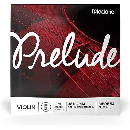 D'Addario Prelude - Cuerda individual Mi para violín, escala 4/4, tensión media