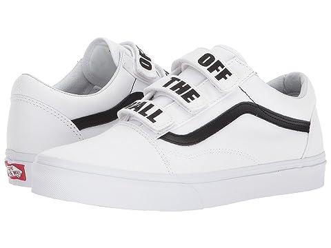 a81dfacc04f Shop Vans Old Skool™ V In (Off The Wall) True White Black