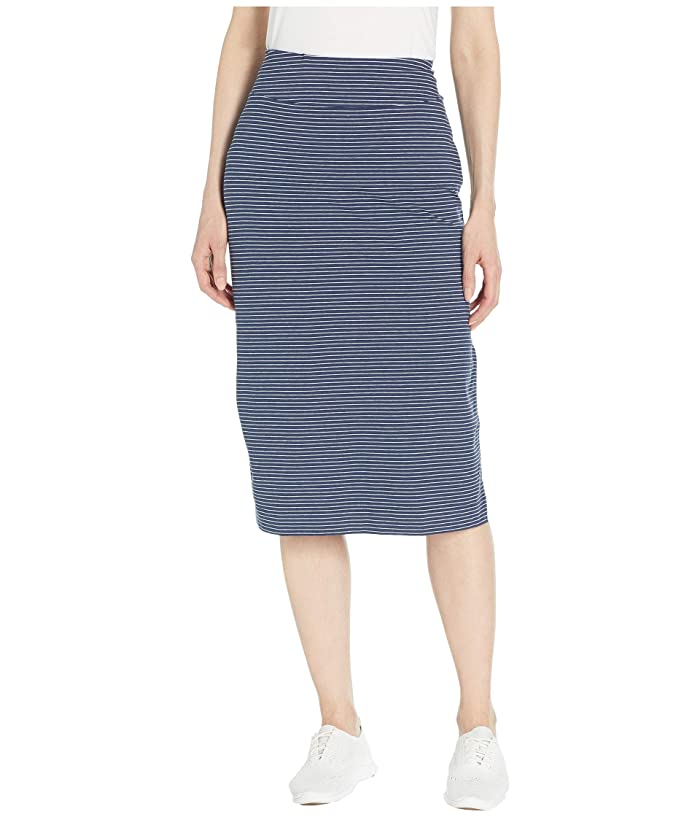 Toad&Co Samba Paseo Midi Skirt (Deep Navy 230 Stripe) Women