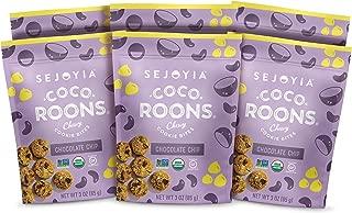 Sejoyia Gluten Free Vegan Coco Roons Paleo Keto Snacks, Chocolate Chip, 3 Ounce (6 Count), Organic Coconut