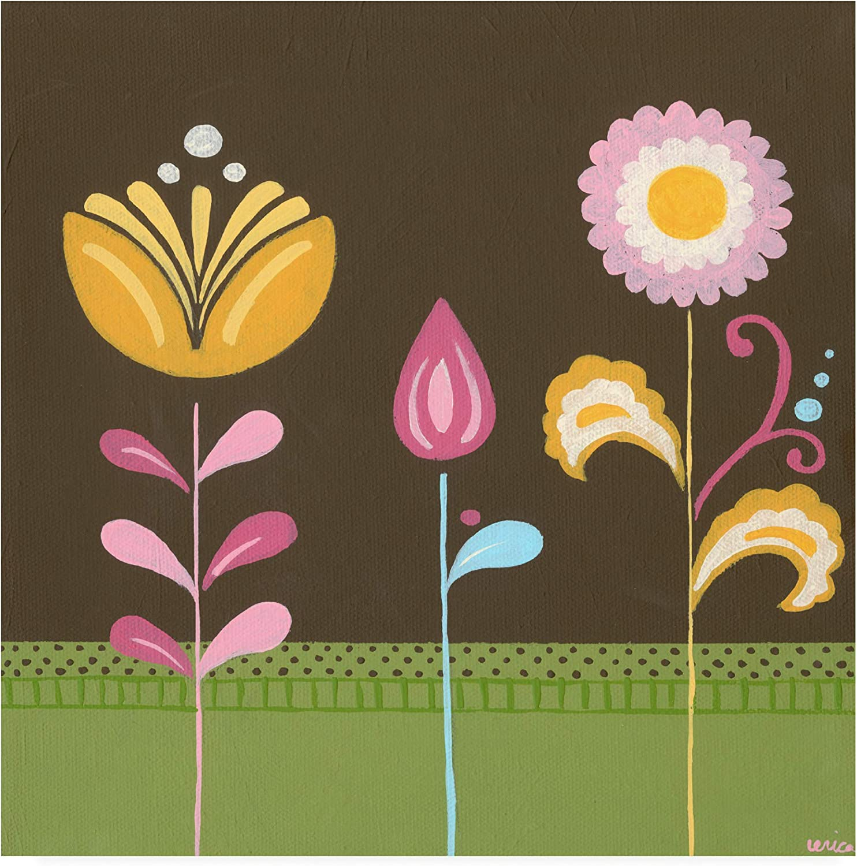 Trademark Fine Art WAG16335-C1414GG Patchwork Garden III by June Erica Vess, 14x14