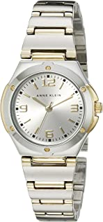 Anne Klein Women's 108655SVTT Two Tone Round Dress Watch