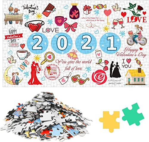 lowest OPTIMISTIC Jigsaw Puzzle 1000 Piece, Educational Puzzle Toy for popular Kids/Adults, 2020 Commemoration Jigsaw Puzzle for Adults Kids, Christmas online sale Jigsaw Puzzles, 2021 for Valentines' Day online