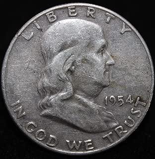 1954 ben franklin half dollar