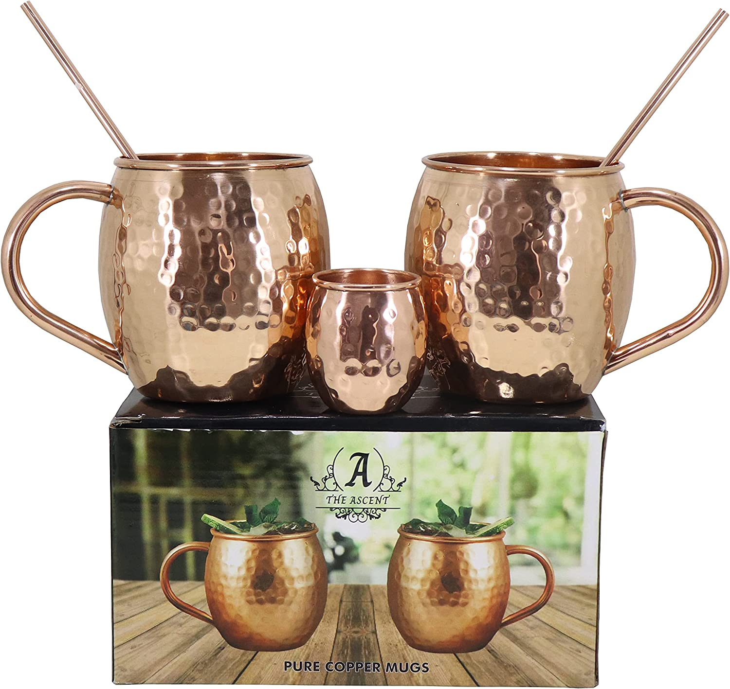The Ascent Limited time cheap Recommendation sale Moscow Mule Copper Mug Coppe Gift Set of 2