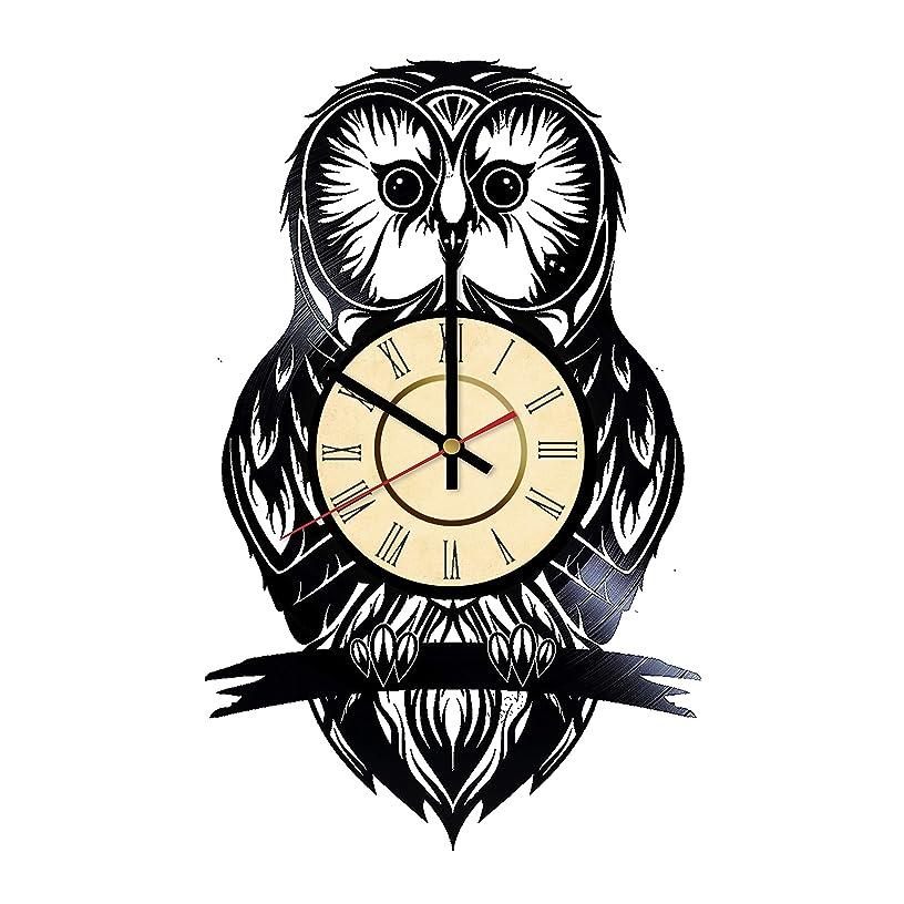 Owl Vinyl Wall Сlock Gift Owl Birds Wall Decor Home Living Room Wall Art Handmade Decorations