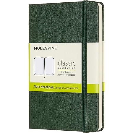 Moleskine Classic Notebook, Taccuino con Pagine Bianche, Copertina Rigida e Chiusura ad Elastico, Formato Pocket 9 x 14 cm, Colore Verde Mirto, 192 Pagine