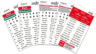 All In Gear Sailboat Rigging Labels Vinyl Waterproof Weather Resistant Sail Boat Stickers Control Port and Starboard Mari...