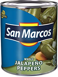 San Marcos Whole Jalapenos, Carefully Handpicked Whole Jalapeños Peppers, Premium Whole Jalapeno Peppers From Mexico, 97 oz
