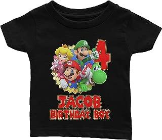 mario and luigi birthday shirts