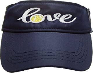 Tennis Addiction Tennis Love Visor Navy Embroidered Gift Tennis Lover Player
