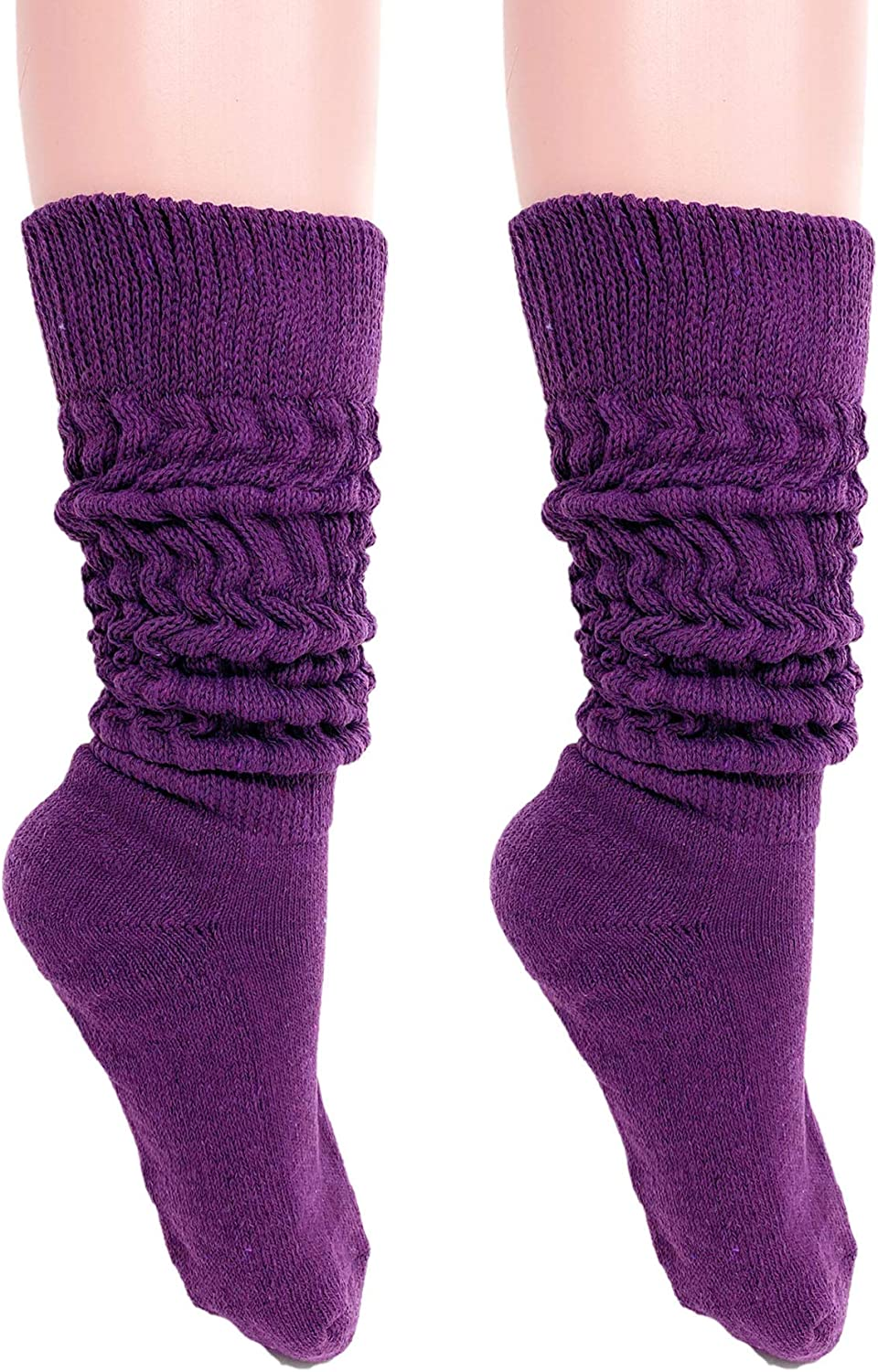 Slouch Socks Women and Men Extra Tall Heavy Cotton Socks Size 9 to 11