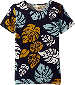 Tropical Leaf Printed Tee (Toddler/Little Kids/Big Kids)
