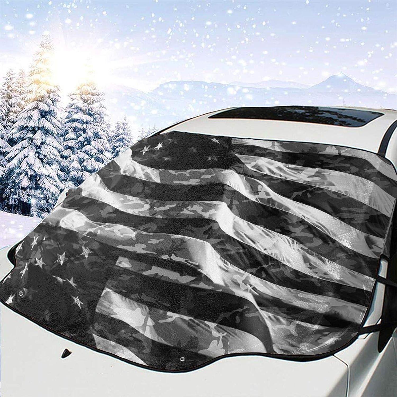 Car Front Nashville-Davidson Mall Window Windshield Snow Cover Black American Flag San Diego Mall Heat