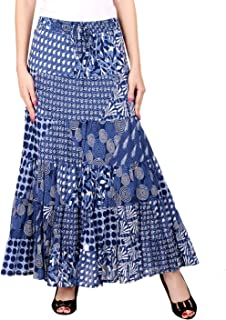 COTTON BREEZE Women's Cambric Tie Dye Skirt (FP99, Multicolour, Free Size)