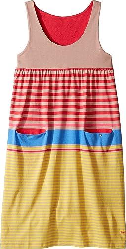 Sonia Rykiel Kids - Sleeveless Striped Dress w/ Pom Pom Detail (Big Kids)