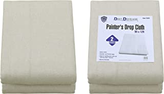 Pack of 2: Canvas Drop Cloth Cotton Tarp 9×12 Large Canvas Tarp for Art Supplies,..