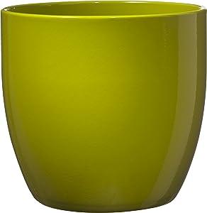 Soendgen Keramik Blumenübertopf, Basel Full Color, limette, 21 x 21 x 20 cm, 0069/0021/2061